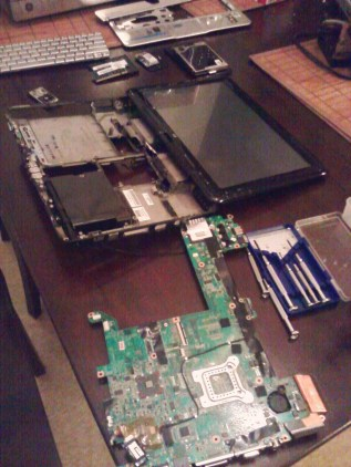 My Laptop in Pieces