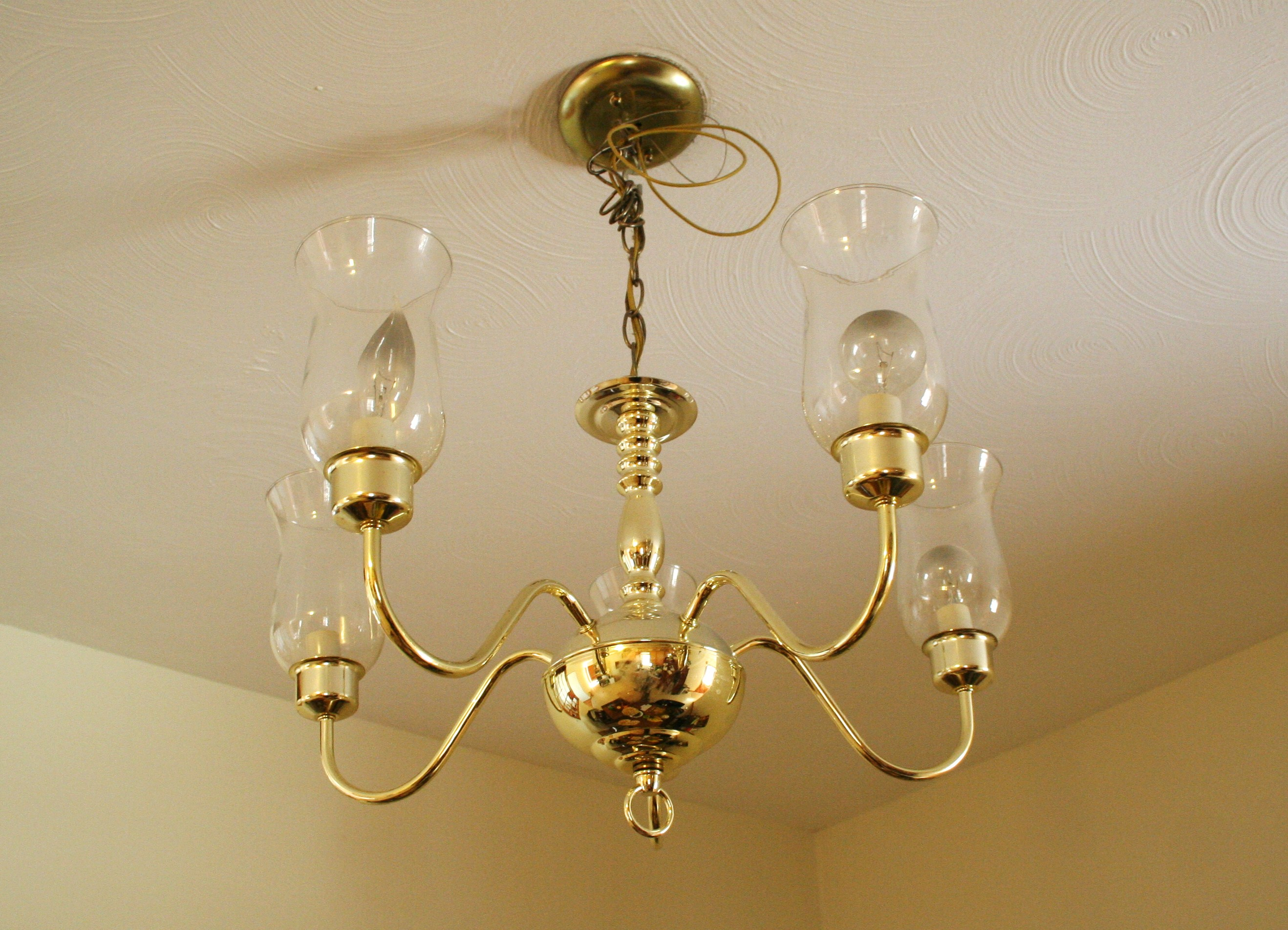 Household lifestyle light fixture painting ever